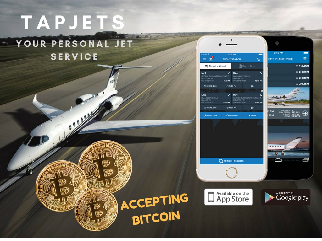 Pay with Bitcoin TapJet